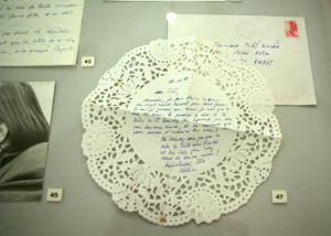 Korespondaz Bizot Kolar Prague National Gallery. A letter sent from Beatrice to Jiri in 1988