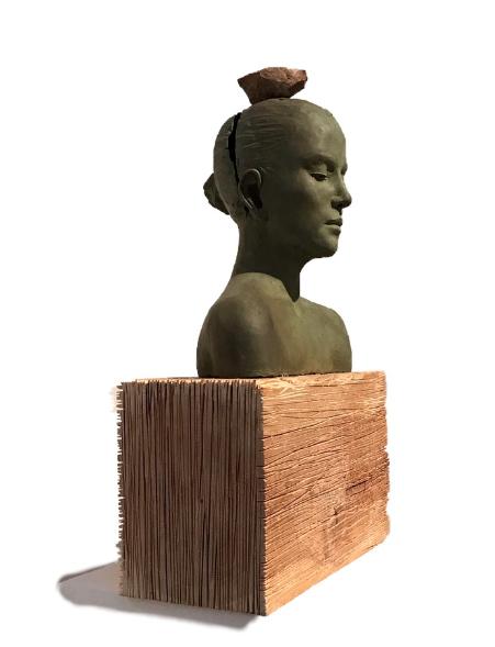 bronze wood stone sculpture