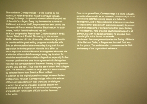 Explicacion de la Exposicion Kolar-Bizot a la Galeria National de Praga
