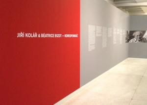 2012 exhibition Korespondaz National Gallery Prague. Entrance to the exhibition