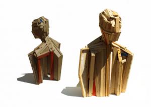 escultura madera Beatrice Bizot