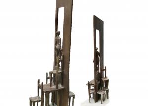 sculpture tables et chaises bronze